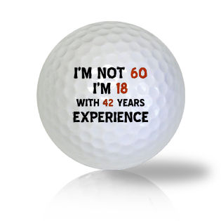 Happy 60th Birthday Golf Balls - Half Price Golf Balls - Canada's Source For Premium Used & Recycled Golf Balls