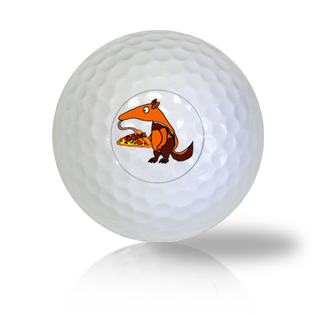 Anteater Having a Pizza Golf Balls - Half Price Golf Balls - Canada's Source For Premium Used & Recycled Golf Balls