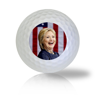 Hillary Clinton Having A Good Laugh Golf Balls - Half Price Golf Balls - Canada's Source For Premium Used & Recycled Golf Balls
