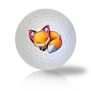 Comfortably Sleeping Fox Golf Balls - Half Price Golf Balls - Canada's Source For Premium Used & Recycled Golf Balls