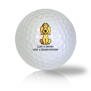 Life Is Better With A GoldenDoodle Golf Balls - Half Price Golf Balls - Canada's Source For Premium Used & Recycled Golf Balls