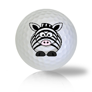 Cute Zebra Standing Golf Balls - Half Price Golf Balls - Canada's Source For Premium Used & Recycled Golf Balls