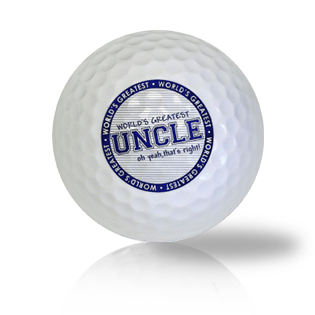 World's Greatest Uncle Golf Balls
