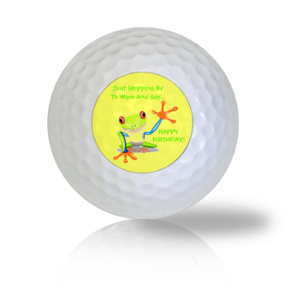 Frog Waving Happy Birthday Golf Balls - Half Price Golf Balls - Canada's Source For Premium Used & Recycled Golf Balls