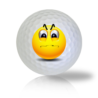 Angry and Frustrated Emoticon Golf Balls - Half Price Golf Balls - Canada's Source For Premium Used & Recycled Golf Balls