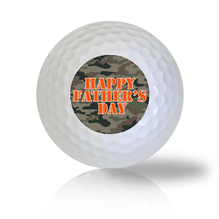 Happy Father's Day Camo Golf Balls - Half Price Golf Balls - Canada's Source For Premium Used & Recycled Golf Balls