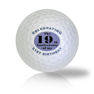 Funny 40th Birthday Golf Balls - Half Price Golf Balls - Canada's Source For Premium Used & Recycled Golf Balls