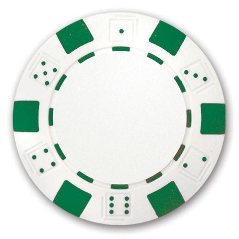 Classic Personalized Poker Chips - Green - Half Price Golf Balls - Canada's Source For Premium Used & Recycled Golf Balls