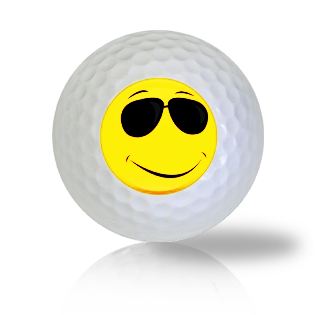Sun Glasses (Shades) Emoticon Golf Balls