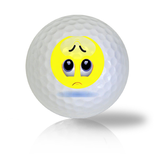 Worried And Stressed Emoticon Golf Balls