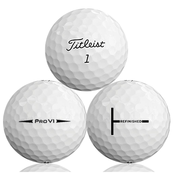 Custom Titleist Pro V1 2018 Refinished (T-Line) Used Golf Balls - Foundgolfballs.com
