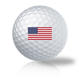 USA FLAG Titleist Pro V1 Used & Recycled Golf Balls