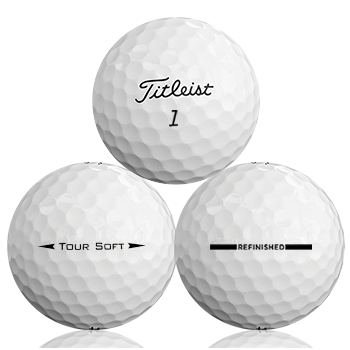 Custom Titleist Tour Soft Refinished (Straight Line) Used Golf Balls - Foundgolfballs.com