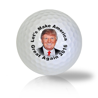 Trump 2016 Let's Make America Great Again Golf Balls - Half Price Golf Balls - Canada's Source For Premium Used & Recycled Golf Balls