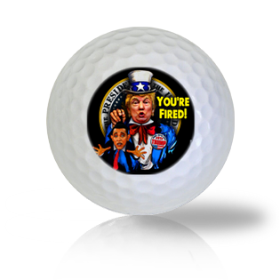 Donald Trump Fires Barack Obama Logo Golf Balls - Half Price Golf Balls - Canada's Source For Premium Used & Recycled Golf Balls