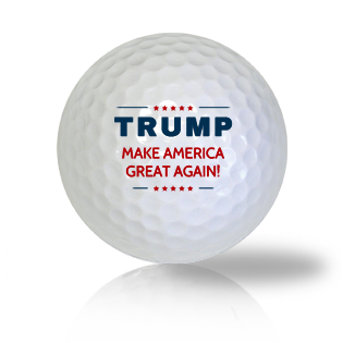 Donald Trump Let's Make America Great Again Golf Balls - Half Price Golf Balls - Canada's Source For Premium Used & Recycled Golf Balls