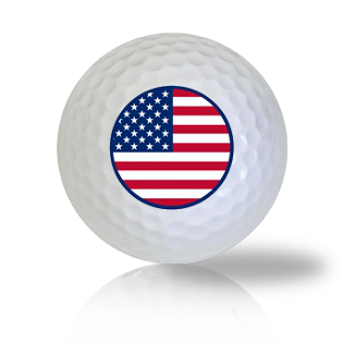 America Circle Flag Golf Balls - Half Price Golf Balls - Canada's Source For Premium Used & Recycled Golf Balls