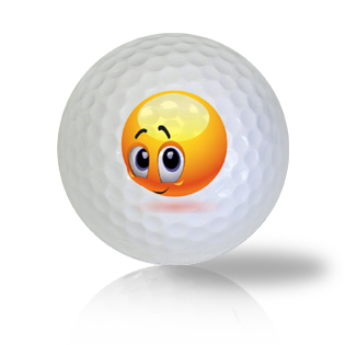 Super Bashful Emoticon Golf Balls