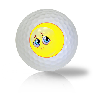Why Me Emoticon Golf Balls