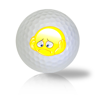Down In The Dumps & Worried Emoticon Golf Balls - Half Price Golf Balls - Canada's Source For Premium Used & Recycled Golf Balls