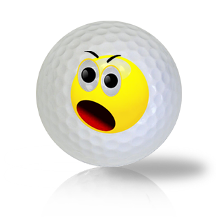 Yelling Emoticon Golf Balls