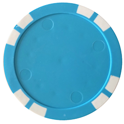 Personalized Poker Chips - Solid Blue