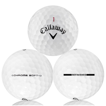Callaway Chrome Soft Refinished (Straight Line) Used Golf Balls - Foundgolfballs.com