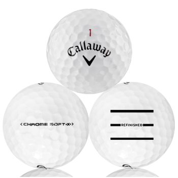 Custom Callaway Chrome Soft X Refinished (Triple-Line) Used Golf Balls - Foundgolfballs.com