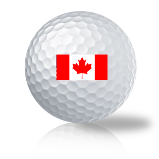 Canadian Flag Titleist Pro V1 Recycled & Used Golf Balls