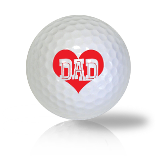 I Love Dad Golf Balls - Half Price Golf Balls - Canada's Source For Premium Used & Recycled Golf Balls