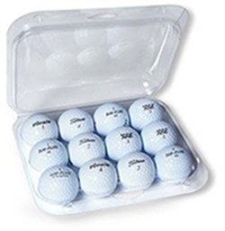 Custom Packaging - Clam Pack (12 Balls) - Half Price Golf Balls - Canada's Source For Premium Used & Recycled Golf Balls