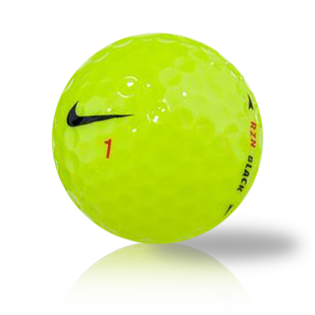 Nike RZN Black Yellow Recycled & Used Golf Balls