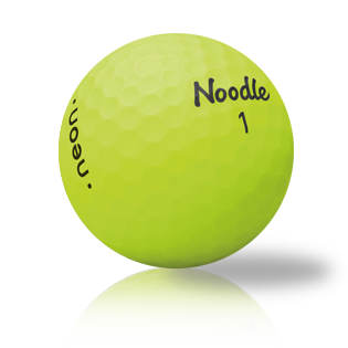 Noodle Neon Matte Yellow Golf Balls