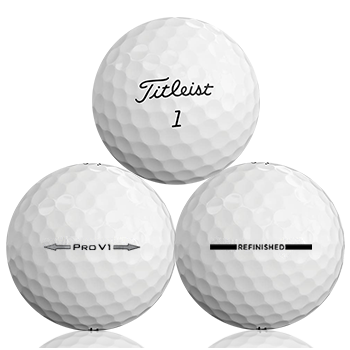 Custom Titleist Pro V1 Refinished (Straight Line) Used Golf Balls - Foundgolfballs.com