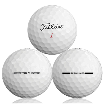 Custom Titleist Pro V1X Refinished (Straight Line) Used Golf Balls - Foundgolfballs.com
