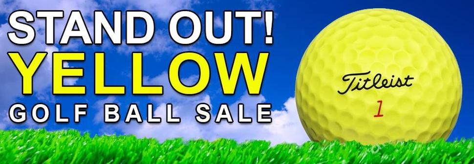 Yellow Golf Ball Sale