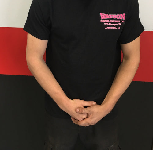 Black T-Shirt With Pink Flag Logo