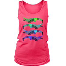 Crocodile, Cute Alligator Graphic Animal Women's Tank Top