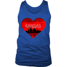 I Love Kansas City KC Skyline Heart State U.S.A Men's  Tank