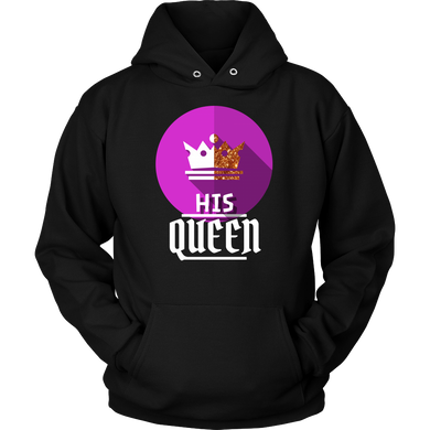 I am His Queen Royalty Matching Couple Hoodie
