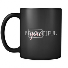 BEyouTIFUL Quote on Black 11 oz Ceramic Mug