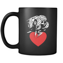 Monster Truck is Love - Ceramic Coffee Cup - 11 oz Classic Coffee Mug by Lifehiker Designs