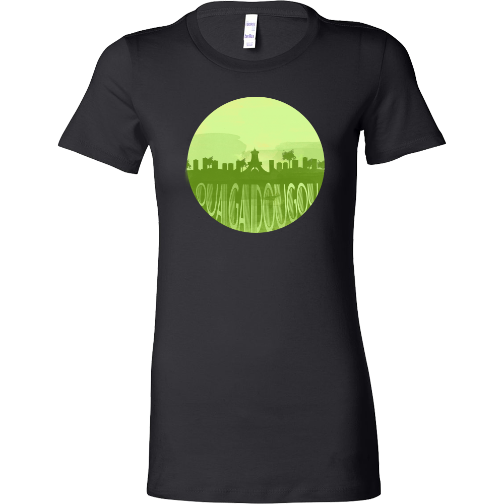 Ouagadougou Capital Skyline Horizon Sunset Burkina Faso Bella Shirt