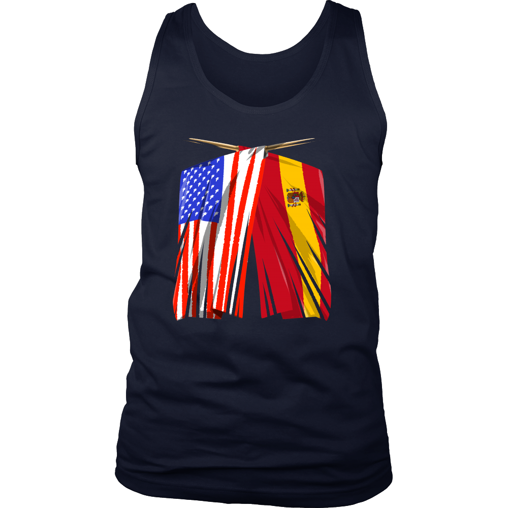 Spanish American Spain and America Pride Flag Tank