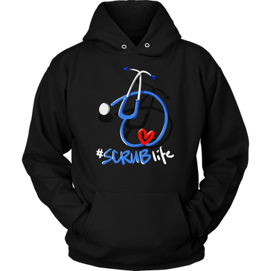 Cute #Scrub Life Love Being a Nurse - Nurse Life Hoodie