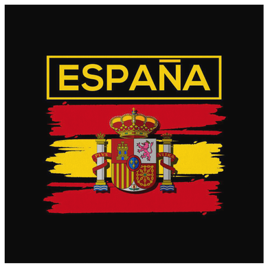 Spanish Canvas Wall Art, Pride Patriotic España Vintage Flag Canvas