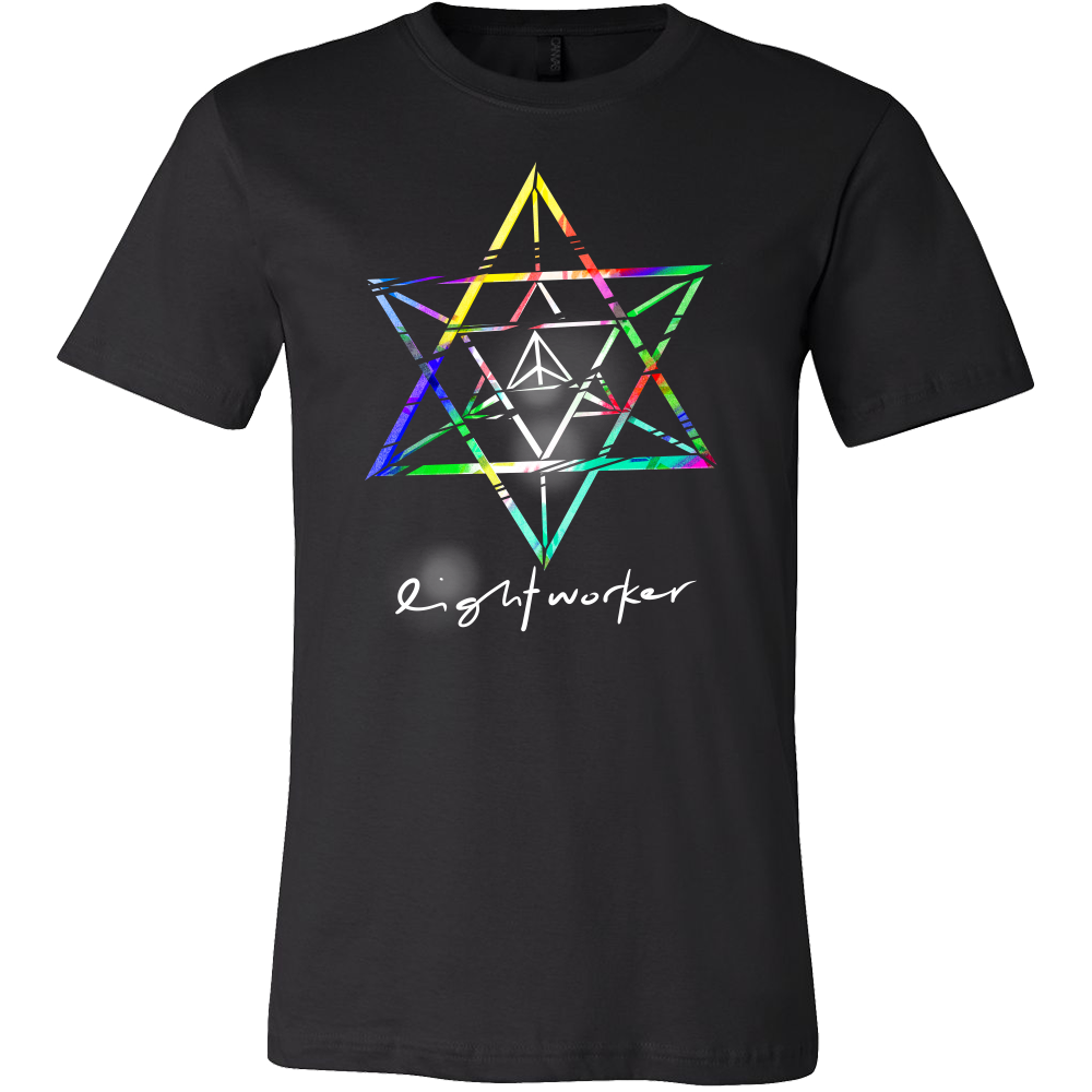 Lightworker Merkaba Sacred Geometry Abstract T Shirt
