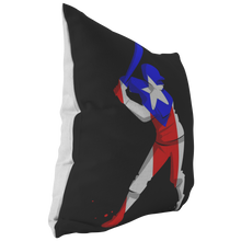 Colorful Baseball Flag Puerto Rico Design Pillow