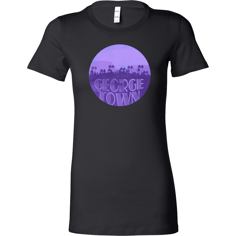 George Town Skyline Horizon Sunset Love Caymen Islands Bella Shirt