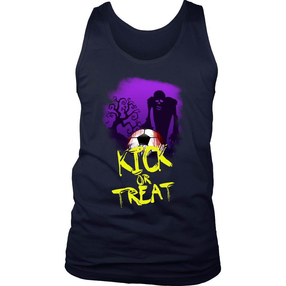 Halloween Night Happy Halloween Kick or Treat Men's tank